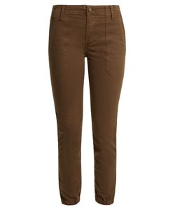 Vince | Slim-Leg Stretch Cotton-Twill Trousers