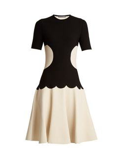 Alexander McQueen | Intarsia-Knit Flared-Skirt Dress