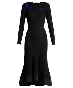 ESTEBAN CORTAZAR | Sheer-Insert Jersey Gown