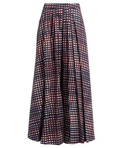 Stella Jean | High-Rise Pleated Checked Culottes