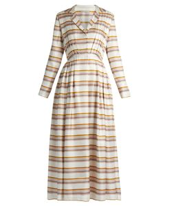 Emilia Wickstead | Salome Striped Pleated Silk Dress