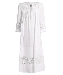 JACQUEMUS | Tie-Neck Lace-Insert Cotton Maxi Dress