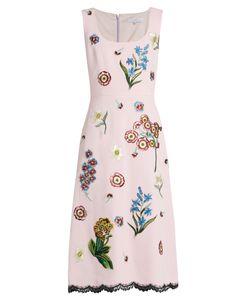 Andrew Gn | -Appliqué Sleeveless Crepe Dress