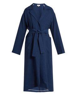 Isa Arfen   Safari Waist-Tie Linen Coat