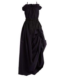 SportMax | Bandeau Ruched Cotton-Poplin Dress