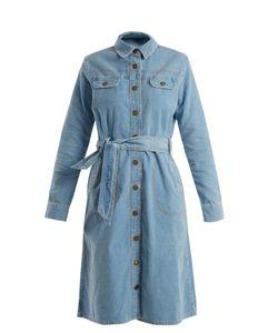 Mih Jeans | Newton Waist-Tie Cotton-Corduroy Dress