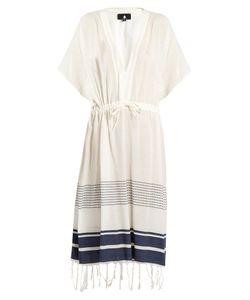 SU | Luna Tie-Waist Cotton-Blend Kaftan