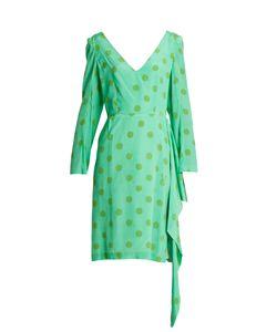 Natasha Zinko | V-Neck Polka-Dot Silk-Crepe Dress