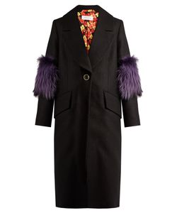 Saks Potts | System Fur-Panel Wool Coat