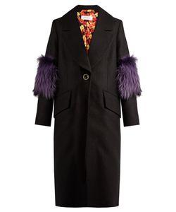 Saks Potts | System Fur-Panel Wool Coat
