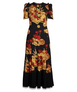 Dolce & Gabbana | Bread-Print Cady Midi Dress