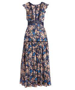 Rebecca Taylor | Gigi Print Ruffle-Trimmed Cotton Dress
