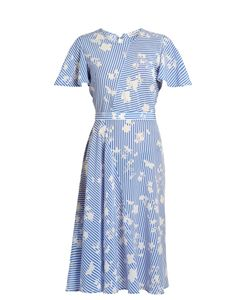 Altuzarra | Dorothea Short-Sleeved Striped Midi Dress