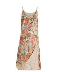 MM6 by Maison Margiela | Asymmetric Print Cotton Slip Dress