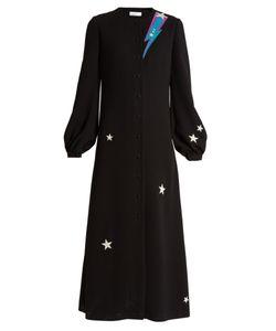 RACIL | Iman Rockstar-Appliqué Bell-Sleeve Dress