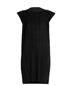 PLEATS PLEASE BY ISSEY MIYAKE   Pata Pata Capped-Sleeve Pleated Dress