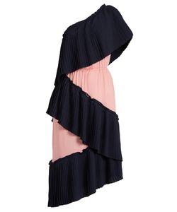 Marco De Vincenzo | Tiered Bi-Colour Pleated Dress