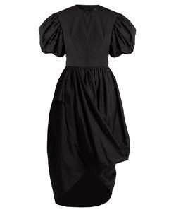 Simone Rocha | Puff-Sleeved Draped Poplin Dress