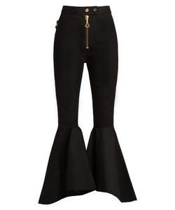 Ellery | Alejandro Ruffled-Panel Cropped Jeans