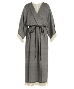 Adam Lippes | Fringed Wool-Blend Wrap Dress