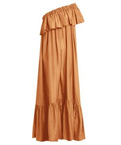 KALITA | La Fontelliana One-Shoulder Silk-Habotai Dress