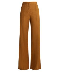Diane Von Furstenberg | High-Rise Wide-Leg Linen-Blend Trousers
