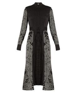 Diane Von Furstenberg | Polka-Dot And Leaf-Print Stretch-Silk Dress