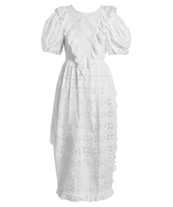 Simone Rocha | Broderie-Anglaise Ruffled Dress