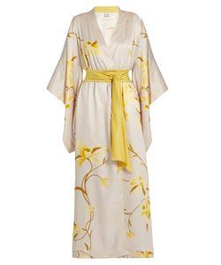 Carine Gilson | Orchid-Print Silk-Twill Robe