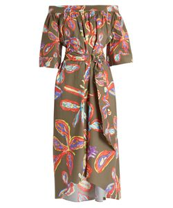 Peter Pilotto | -Print Off-The-Shoulder Poplin Dress