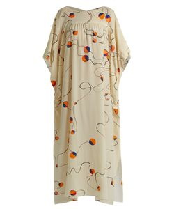 MAFALDA VON HESSEN | Abstract-Print Silk Smock Dress