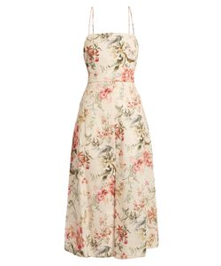 Zimmermann | Mercer Print Open-Back Dress