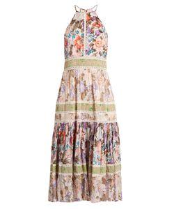 Rebecca Taylor | -Print Halterneck Cotton-Blend Dress