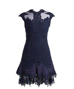 Jonathan Simkhai   Mesh-Insert Fluted-Hem Lace Dress