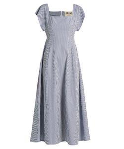 A.W.A.K.E. | Square-Neck Striped Cotton Dress