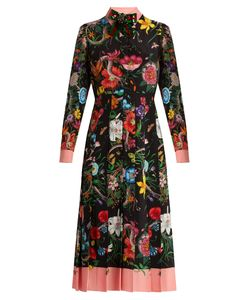 Gucci | And Snake-Print Silk Midi Dress