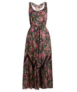 No. 21 | -Print Racer-Back Cotton Maxi Dress