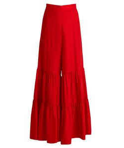 Adriana Degreas | Tiered Wide-Leg Jersey Trousers