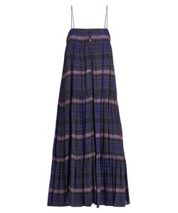 A PIECE APART | Tangiers Sleeveless Checked Voile Dress