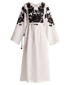 Vita Kin | Summer Garden Embroidered Mid-Weight Linen Dress