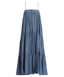 A PIECE APART | Tangiers Sleeveless Cotton-Chambray Dress