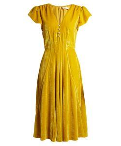 Altuzarra | Camilla V-Neck Velvet Midi Dress