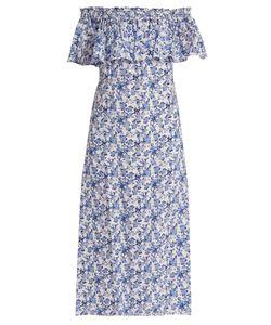 Rebecca Taylor | Aimee Print Off-The-Shoulder Silk Dress