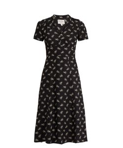 HVN | Morgan Comet-Print Silk Dress