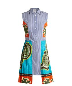 Stella Jean | Contrast-Print Pleated-Cotton Dress
