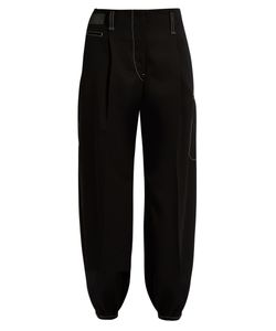 LEMAIRE | Contrasting-Stitch Tapered Wool Trousers