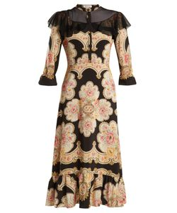 VILSHENKO | Petra Lace-Insert Silk Crepe De Chine Dress