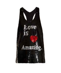 Ashish | Love Is Amazing Sequin-Embellished Silk Top