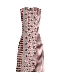 Oscar de la Renta | Sleeveless Intarsia-Knit Wool Dress