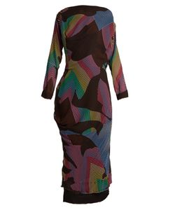 Vivienne Westwood Anglomania | New Fond Zigzag-Print Draped Crepe Dress